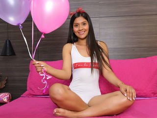 kenyagrey teen cam girl pleasing her pink pussy with a favorite sex toy on cam